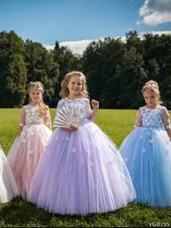 Бальное платье с бабочками