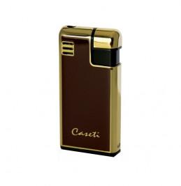 Зажигалка газовая CASETI красный металлик с золотом