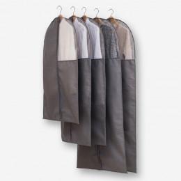 Чехол для одежды 60*110 см ТЕМНО-СЕРЫЙ