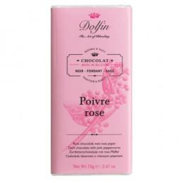Тёмный шоколад с розовым перцем, 70 гр.