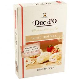 Трюфель DUC d'O из белого шоколада с клубникой, 100гр