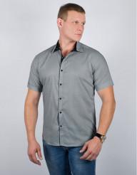 Летняя молодежная рубашка Semco светло-серая модель 20425 13