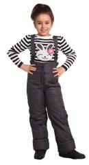 Детский полукомбинезон для девочки (02005). Расцветка: серый