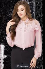 Блузки Модель 11883-1 розовый (пудра) LeNata      Производит