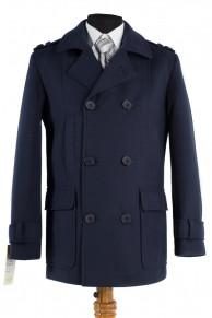 06-0039 Пальто мужское демисезонное (Рост 182) Кашемир Navy