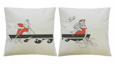 Подушки парные с рисунком «Лодка»