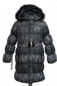 10-0034 Куртка зимняя Плащевка Черный