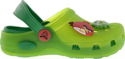 """Кроксы CROSSWAY """"ANGRY BIRDS"""" 5955В зеленый"""