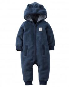 Hooded Fleece Jumpsuit. КАРТЕРС.