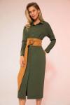 платье LaVeLa Артикул: L10098 хаки/темный