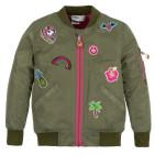 Демисезонная куртка-бомбер для девочки