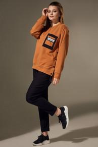брюки, свитшот Andrea Style Артикул: 00302 карамель