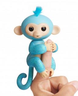 Интерактивная  обезьянка АМЕЛИЯ (изумрудная), 12 см