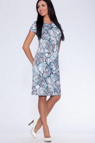 13925 Платье Серо-зеленый