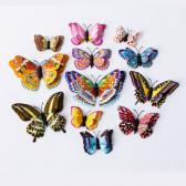 Объемные наклейки «Светящиеся бабочки», 12 шт