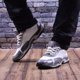 Мужские кожаные кроссовки