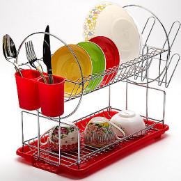23218 Сушилка для посуды 43х9см ХРОМ МВ (х6)
