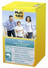 Витамины, минералы и Омега-3, Multi-tabs 3 in 1, 90 капсул