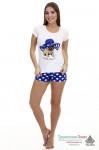 Пижама женская Мопсик (шорты и футболка)