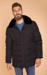 Теплая куртка с меховым воротником MR 102 1693 0819 Black