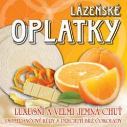 Вафли (оплатки) с апельсиновой начинкой, 175 гр.