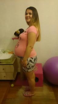Фото животиков на 40 неделе беременности