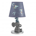 Lambs & Ivy Animal Crackers Jungle Lamp with Shade & Bulb