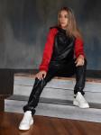 Спортивный костюм Алиса, черный с красным