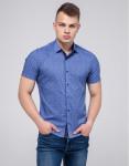 Брендовая рубашка молодежная Semco синяя модель 20433 1556