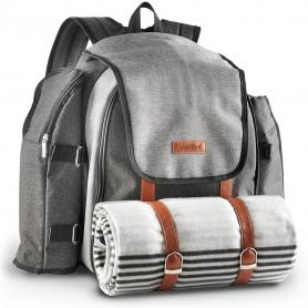 VonShef 4 Person Premium Outdoor Picnic Backpack Bag