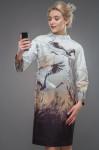 Платья  Модель 2620P1001 серо-коричневый Artribbon-Lenta   П