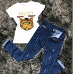 джинсы+ футболка