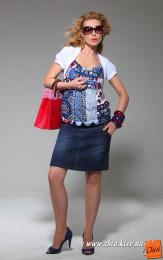 Джинсовая юбка для беременных 1378131