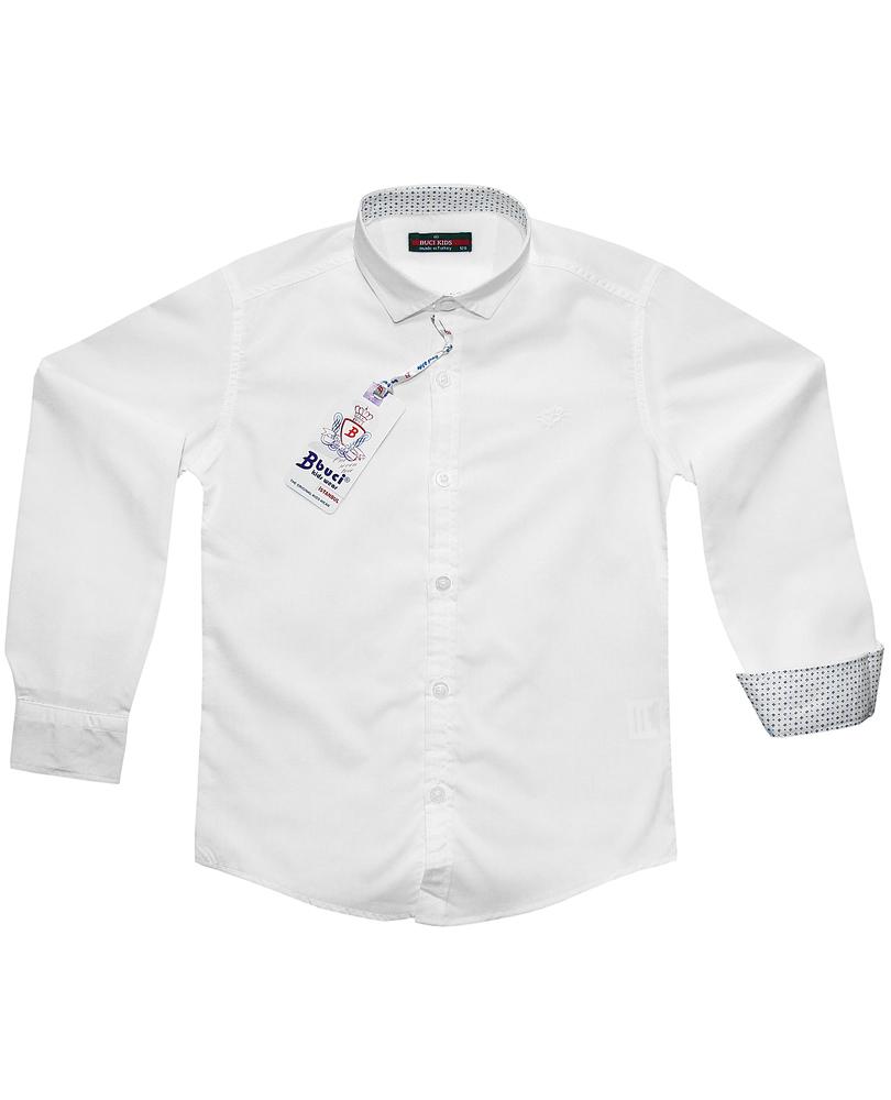 Рубашка классическая, для мальчика, Buci Kids, белая