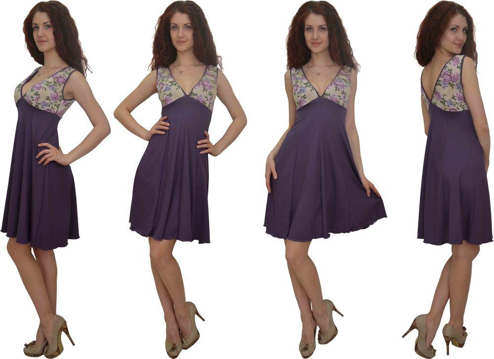 1263 Платье Чернильный 1