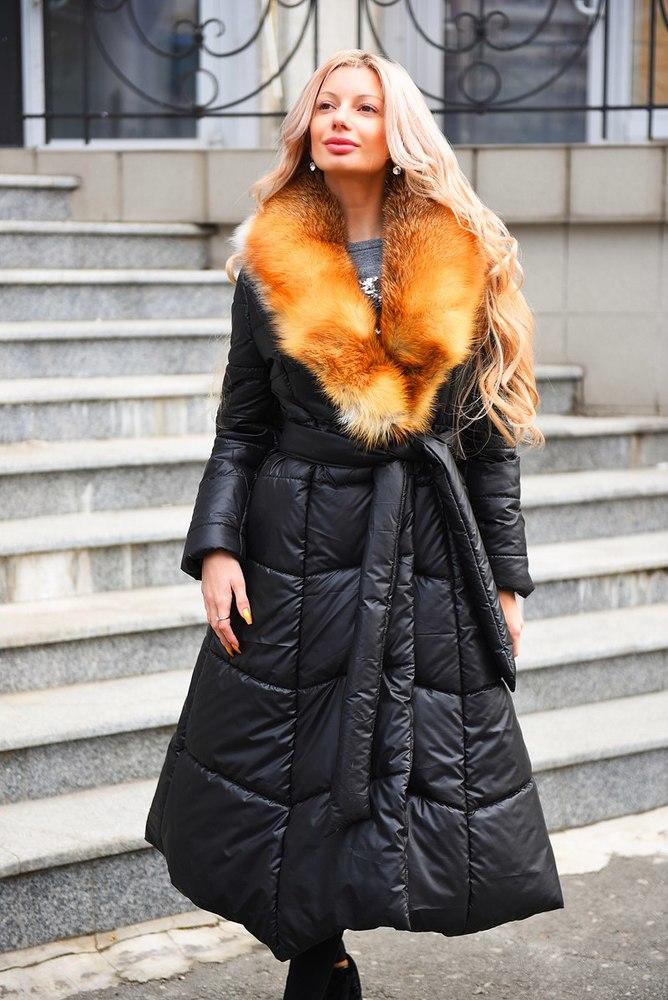 Пальто на натуральном меху женские купить
