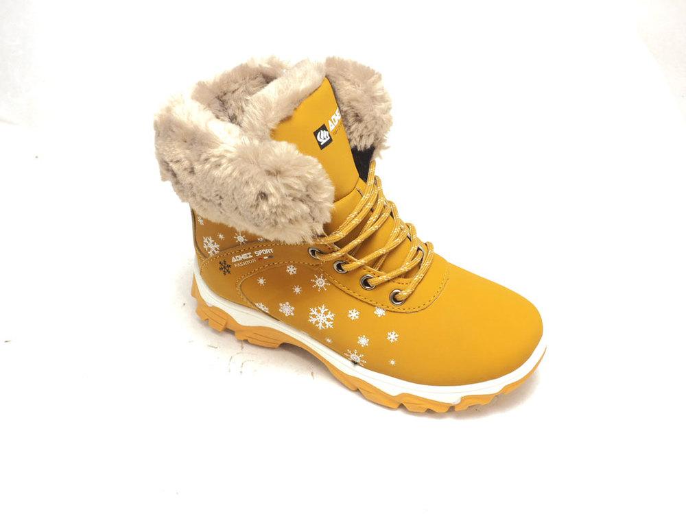 детские ботинки АОWEI 001-19 горчичные, черные