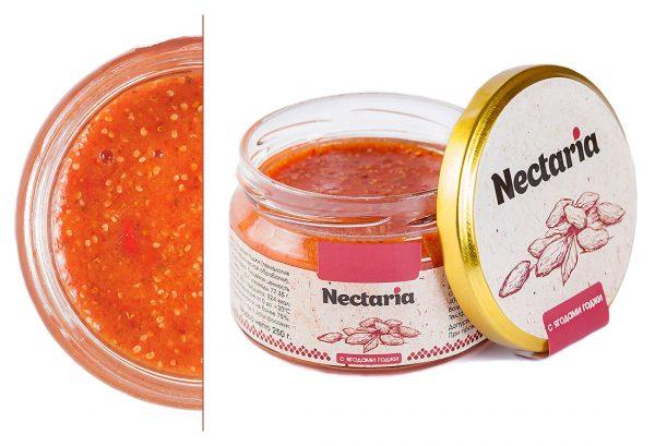 Взбитый мед Nectaria с ягодами годжи 1 банка в наличии