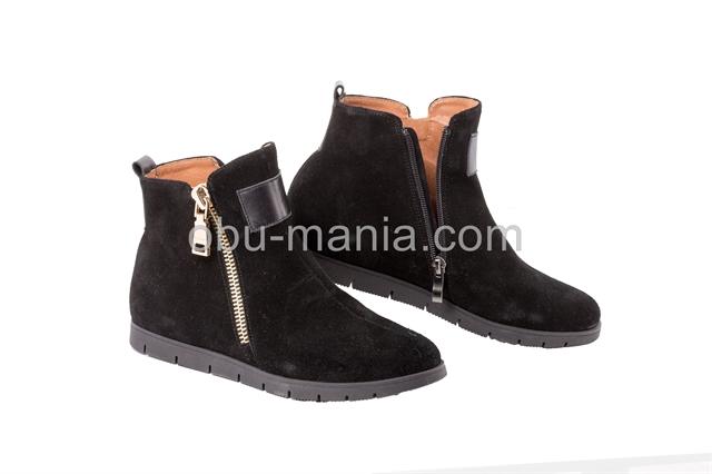 Ботинки A.Garini 17112 черный замш+черная кожа