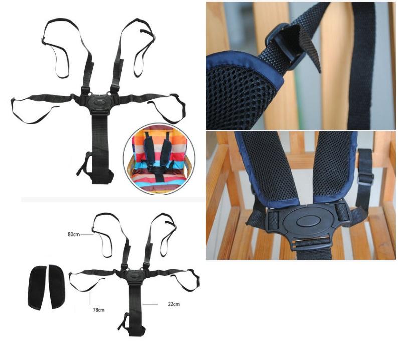 Ремень 5-ти точечный с накладками в стульчик для кормления.
