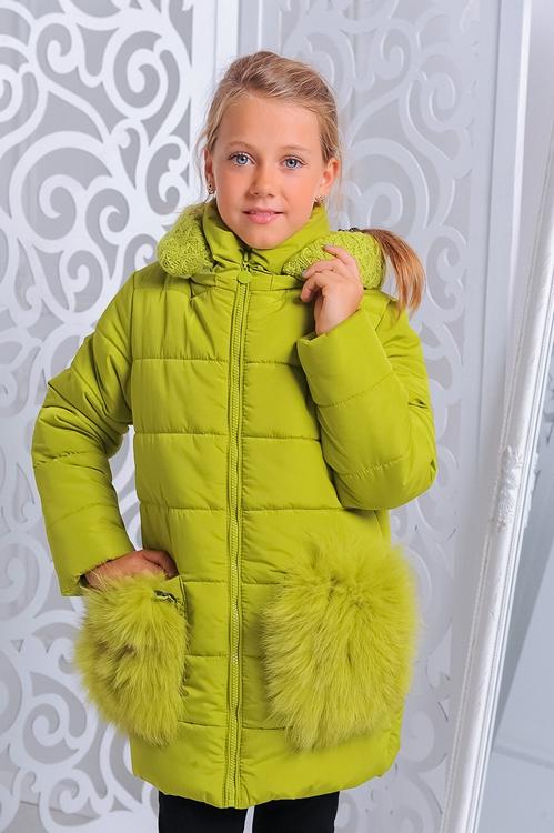 Куртка «Сандра», лайм