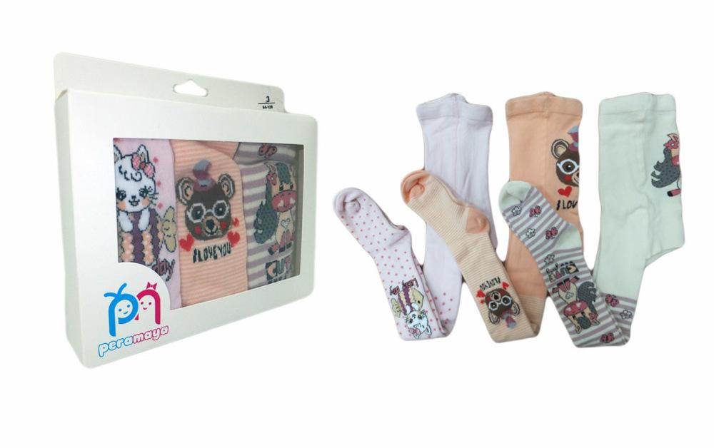 Колготки для девочки ( Набор 3 шт. в подарочной упаковке)