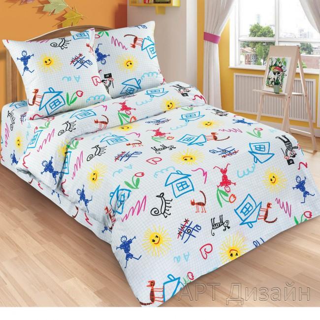 Детское постельное белье Переменка 1,5 сп. поплин