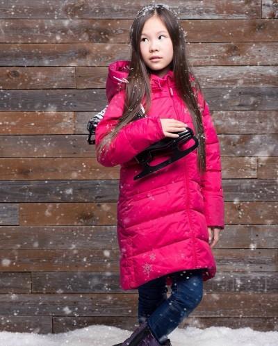 Зимнее пальто «Морозная клюква» W16111 110-164