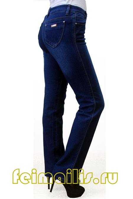 Прямые синие джинсы Feimailis