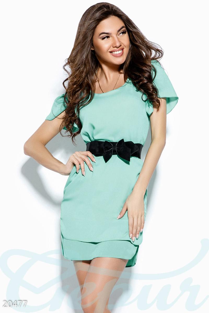 Летнее асимметричное платье