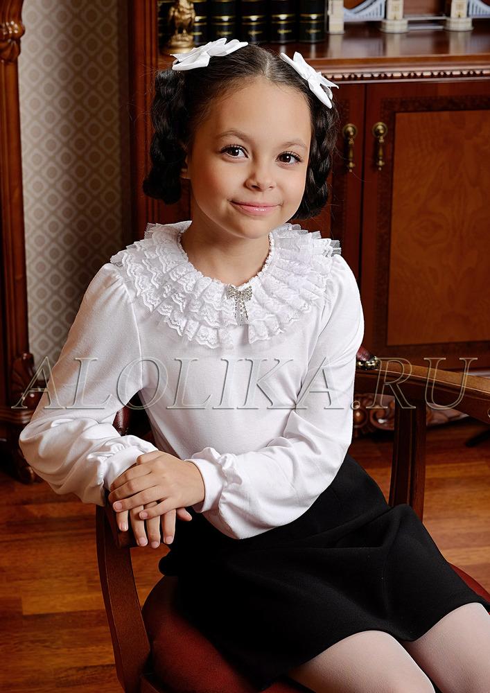 Трикотажная блузка М*елисса белая