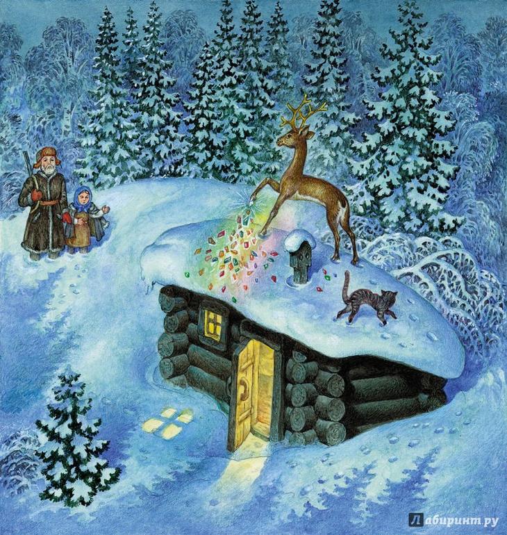 Сказка в картинках про зиму