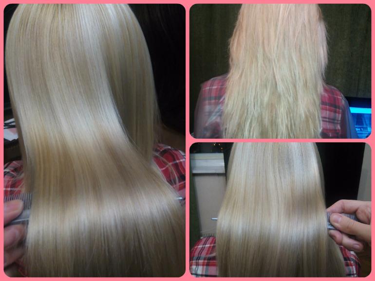 Ботокс волос и кератиновое выпрямление