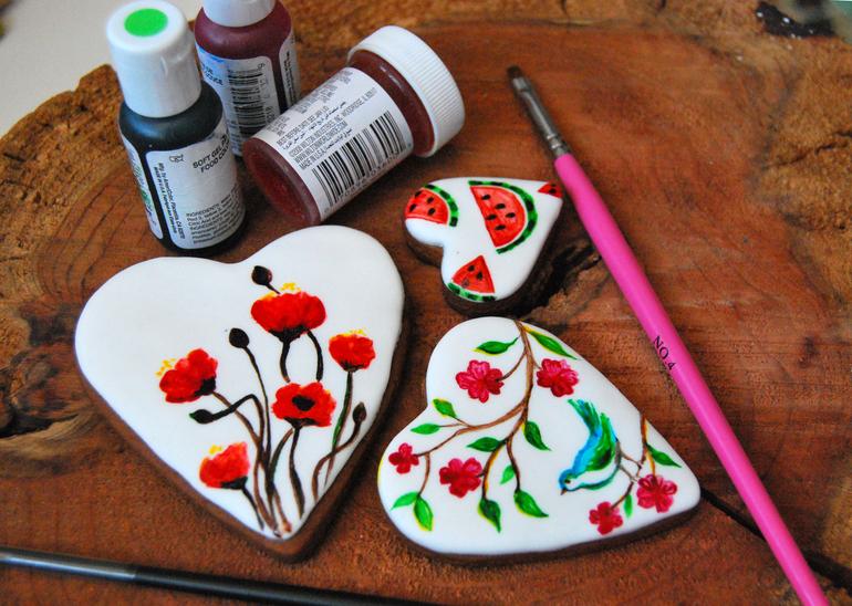 Роспись пряников красителями